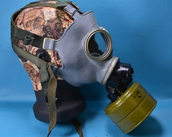 Military Gas Mask,Army Gas Mask,Retro Gray Rubber Mask,Scary Mask,Halloween Mask,Gray Military Mask,Vintage Gas Mask,Gray Steampunk Mask