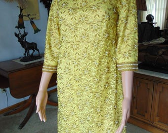Vintage 60's Dress Made Expressly For REGALIA IMPORTS In The Crown Colony Of Hong Kong