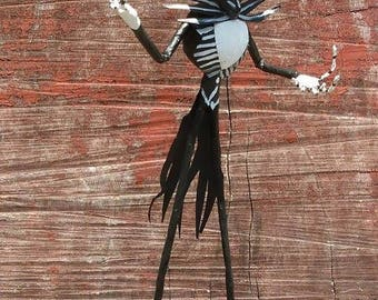 Jack Skellington figure , paper sculpture, paper craft, papier maché