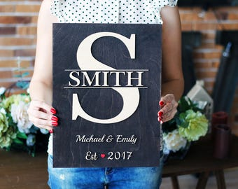 Family Name Sign Last Name Sign Wood Established Sign Wedding Sign Wood Name Sign Last Name Decor Wedding gift Anniversary gift