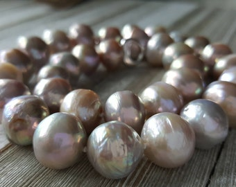 Giant Freshwater Round Pearls, Kasumi, Edison, Wrinkly, 12mm, 16mm, Necklace