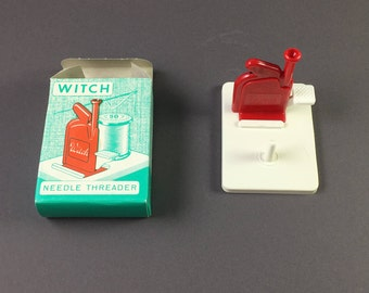 Witch Needle Threader, automatic needle threader, Made in W Germany Vintage  1960's