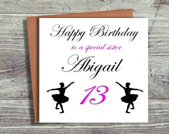 Personalised Birthday Card, Sister, Daughter, Niece, Any Relation, Any Age