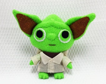 Baby Yodie/stuffed animal/plushies/Anime plushies/Movie character/soft toys/handmade/anime characters/unique gifts/made in USA/felt/custom