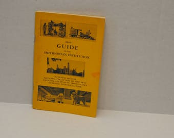 Smithsonian Institution Guide Vintage