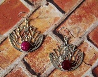 Lotus Silver Earrings