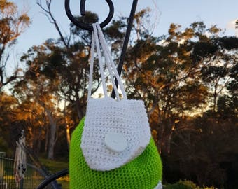 Bell Bag - Small Hand Crocheted BackPack