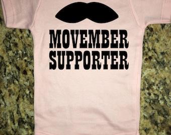 Movember in Pink | Boy Onesie | Girl Onesie |Personalized Onesie | Funny Onesie | Baby Onesie |  Baby Clothing |