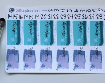 Classic Happy Planner Date Covers - Blue/Purple