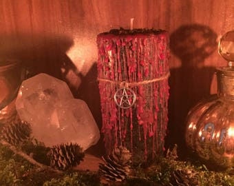 """Magic Ritual Candle """"reversible and defense"""" Witch Candle Dragon Treasures Magic Wicca Pagan Gothic Candle Magic"""