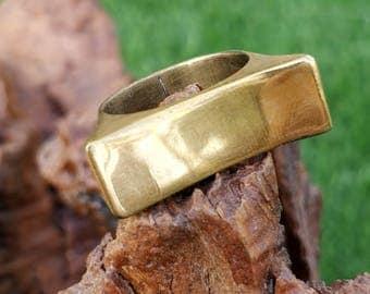 Bridge Ring, Brass, Handmade.