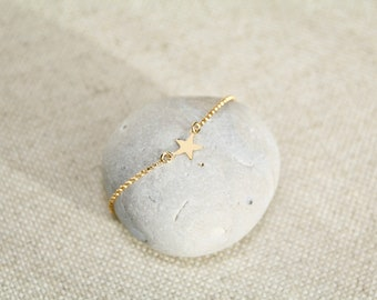 Belcher mesh bracelet and a goldfilled star