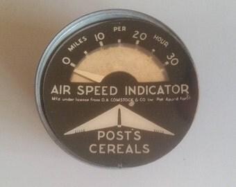 Air Speed Indicator Premium From Post Cereals 1949