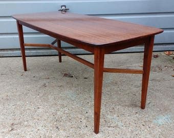 Rare E Gomme/G Plan model 8017 long john coffee table from 1962