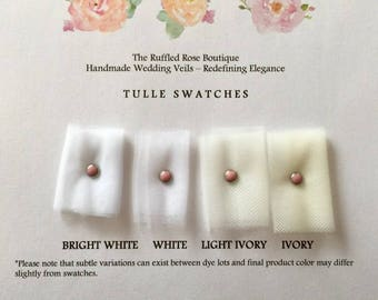 Tulle Swatches, Swatch Card, Veil Swatches, Swatches, Sample Swatches