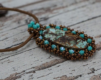 Persian Turquoise Necklace, Persian Turquoise  Pendant, Handmade Persian Turquoise Necklace, Handmade Necklace, Necklace, Pendant, Gift