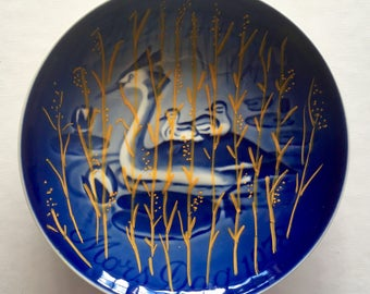In the reeds: Redecorated, vintage mother's day wall plate from B&G