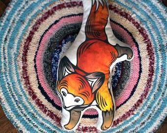 Fox Cute Playful Animal Decorative Pillow Cushion