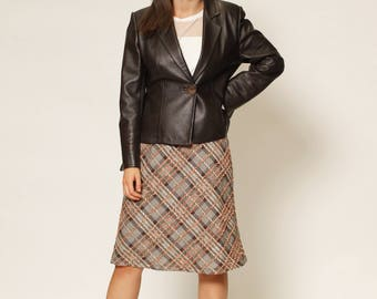 0206 Brown Leather jacket