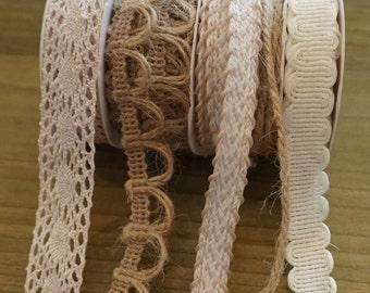 Thin Fabric Ribbon 3 yards Each