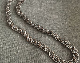 Chunky Unisex Parallel Chain-Maille Necklace