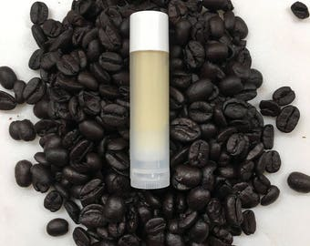 All natural lip balm-Coffee & Vanilla, lip moisturizer, lip balm, chap stick