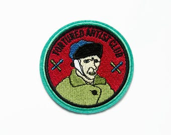 Embroidered Patch - Art Student Gift - Van Gogh Patch - Post Impressionist - Gift for College Student - Iron On Patch - Patches for Jackets