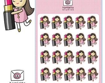 Makeup Lipstick Planner Stickers | Beauty | Makeup | I Love Lipstick Stickers | Beauty Obsession | Makeup Obsessed | Lips | Erin Condren