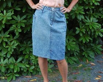 80s acid wash skirt, vintage jean skirt,  vintage denim skirt, 80s denim skirt, acid wash skirt