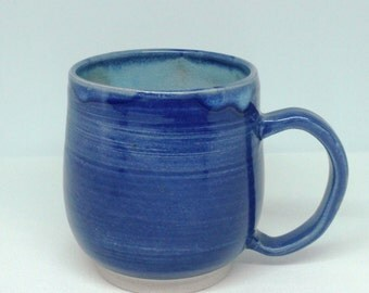 Blue on Blue Mug, Large Mug, Coffee Mug