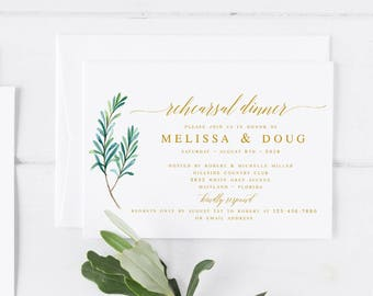 Rehearsal dinner invitation template diy printing custom gold greenery rehearsal dinner invitation template modern rehearsal dinner template calligraphy invitation wedding rehearsal template pdf pronofoot35fo Choice Image