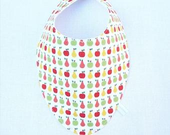 "bavoir foulard original 0/24 mois ""pomme/poire"""