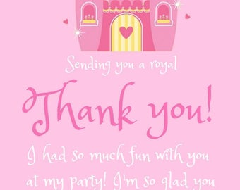 Princess Party Thank You