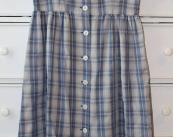 Vintage Plaid Button Down Dress