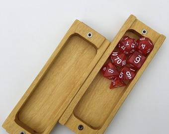 Dice Box Solid Wood Construction - Yellowheart