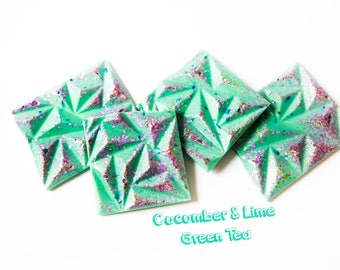 Cucumber & Lime Green Tea Wax Melts (5.7 Oz.) - Tea Scented Wax Melts - Wax Melt Brittle - Wax Snap Bars - Fresh Scented - Wax Melts - Wax