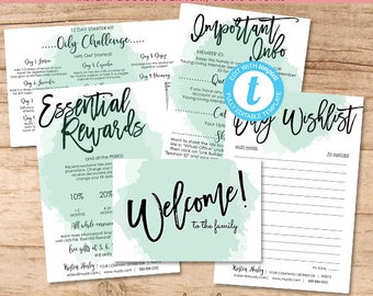 Essential Oil Distributor Kit, New Member Welcome Bundle, Editable Template, Printable Young Marketing Materials, Templett, Instant Download
