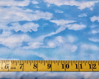Timeless Treasures Blue Sky Cloud Nature 4954 Cotton Fabric By the Yard