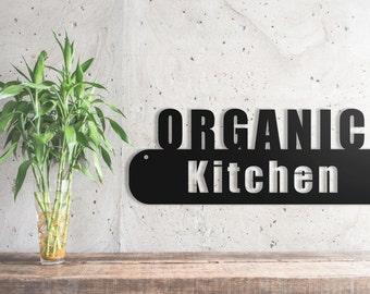 Custom Kitchen organic Metal Wall Sign Art, Home Decor Gift  18''x6.5''  Wood,vein,color options