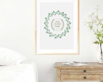 Enjoy the little etsy for Art minimaliste citation