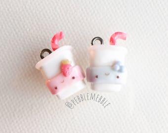 Drink Charms - Kawaii Polymer Clay Charms - Clay Charm - Handmade Charm - Pendant - Polymer Clay - Kawaii