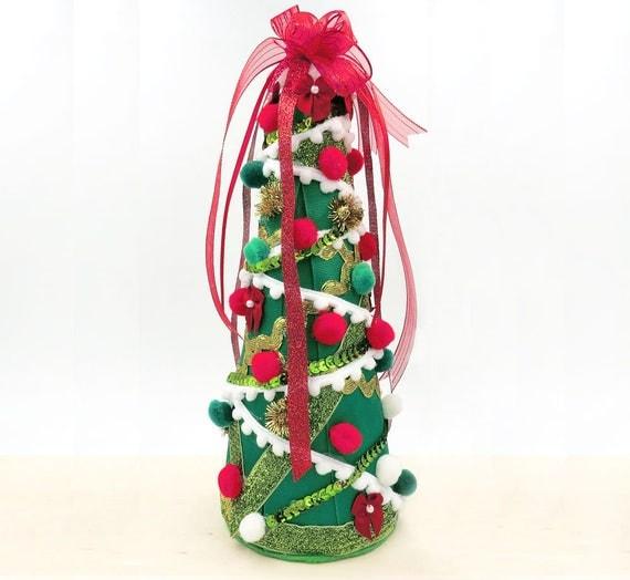 Items similar to sale christmas tree centerpiece mini