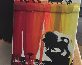 Lion King crayon art