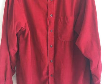Red Corduroy Shirt