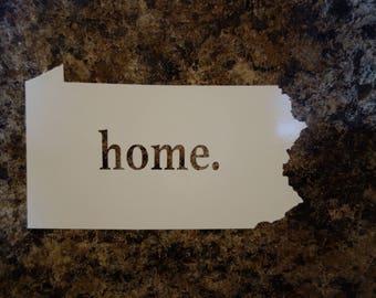 Pennsylvania Home Vinyl Decal