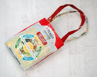 Upcycled Feed Bag - Feed Bag Tote - Grocery Bag - Reusable Shopping Bag - Market Tote - Purina Chicken Feed Bag - Beach Bag - Book Bag - 106
