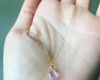 Amethyst Choker, Amethyst Necklace, Amethyst, Gemstone Choker, Gemstone Necklace, Amethyst Drop Necklace