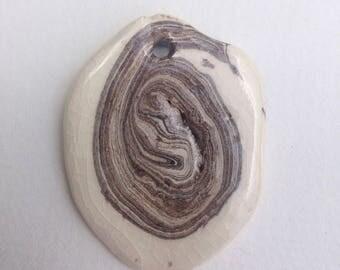 Natural agate ceramic | Pendant