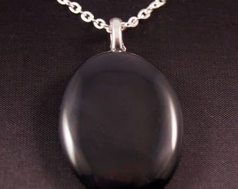 Necklace chain and natural Obsidian