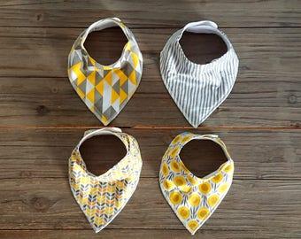 Baby Bandana Bib - Baby Biba - Triangle Bibs - Dribble Bib - Baby Shower Gift - Drool Bib – Baby Bib Set - Baby Gift Set